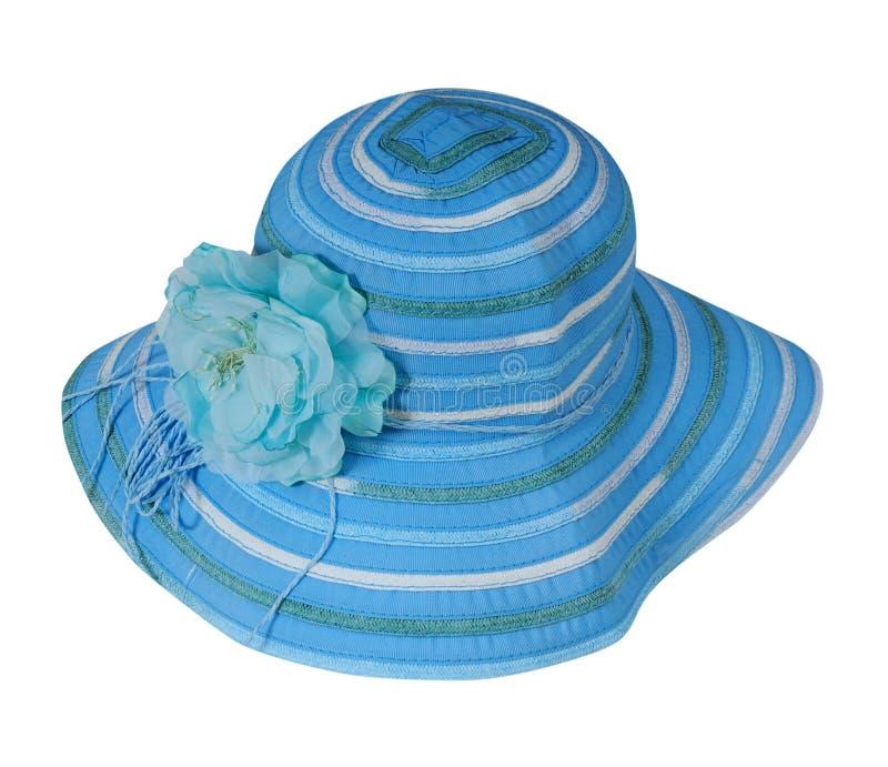 Μπλε ριγωτό καπέλο στοκ εικόνες