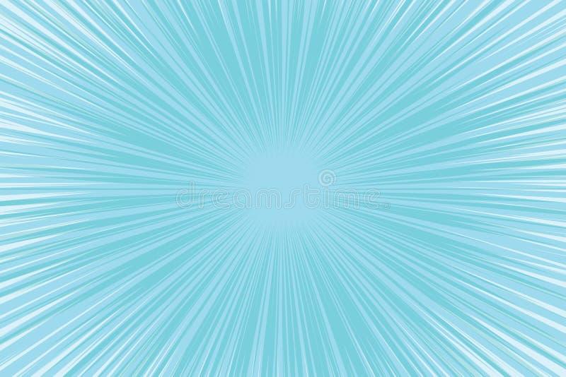 Μπλε δροσερό ελαφρύ λαϊκό κωμικό υπόβαθρο τέχνης ελεύθερη απεικόνιση δικαιώματος
