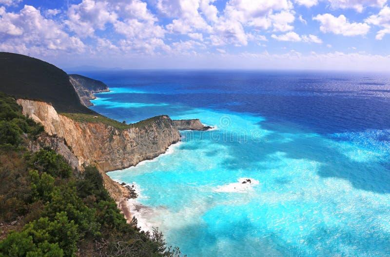 μπλε σαφής θάλασσα στοκ εικόνα