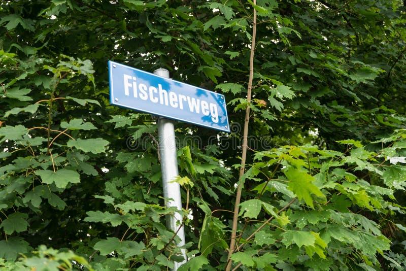 Μπλε σημάδι οδών που εισβάλλεται από το δάσος στοκ εικόνα με δικαίωμα ελεύθερης χρήσης
