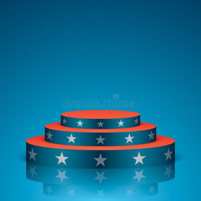 Μπλε σκηνή με τα άσπρα αστέρια ελεύθερη απεικόνιση δικαιώματος