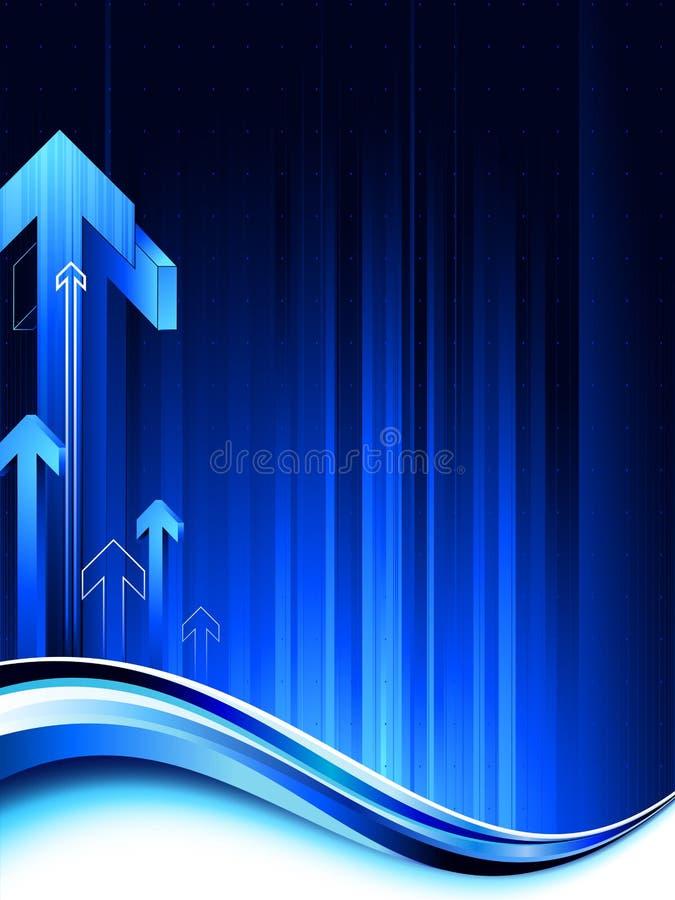 μπλε σκοτεινό άπειρο ανασκόπησης απεικόνιση αποθεμάτων