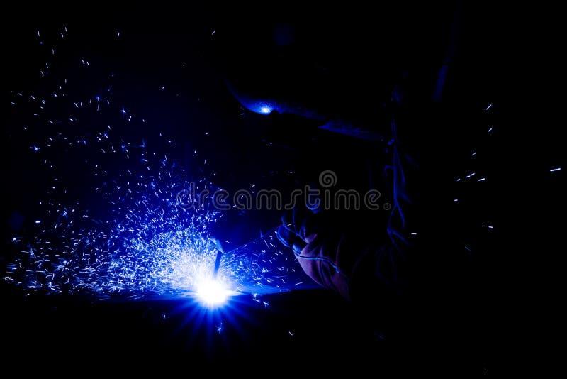 Μπλε σπινθήρας στοκ φωτογραφίες