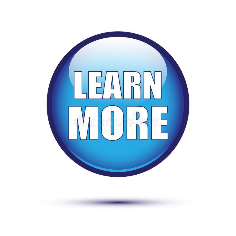 Μπλε στιλπνός μαθαίνει περισσότερο κουμπί ελεύθερη απεικόνιση δικαιώματος