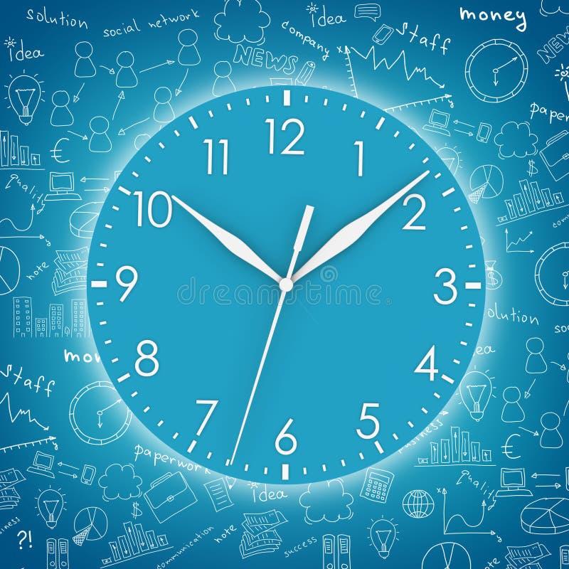 Μπλε στρογγυλό ρολόι ελεύθερη απεικόνιση δικαιώματος