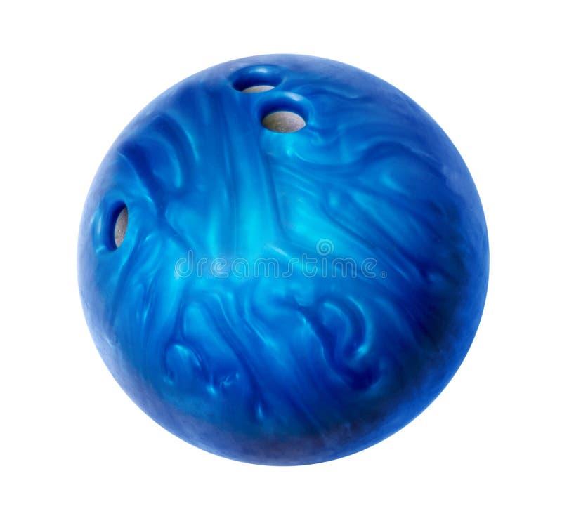 Μπλε σφαίρα μπόουλινγκ στοκ φωτογραφίες