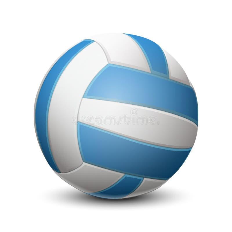 Μπλε σφαίρα πετοσφαίρισης στο άσπρο υπόβαθρο ελεύθερη απεικόνιση δικαιώματος