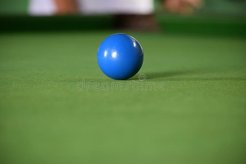 Μπλε σφαίρα σνούκερ στοκ εικόνα με δικαίωμα ελεύθερης χρήσης