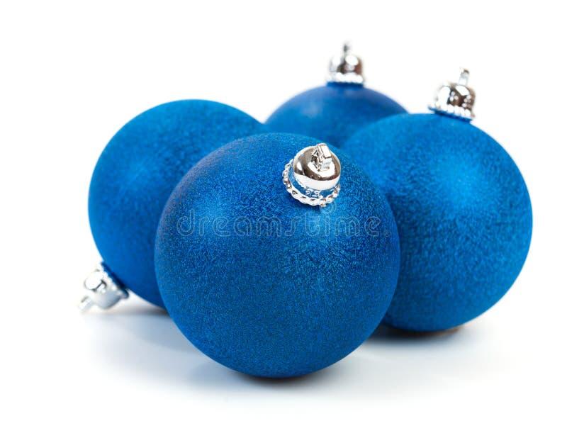 Μπλε σφαίρες Χριστουγέννων στοκ φωτογραφίες
