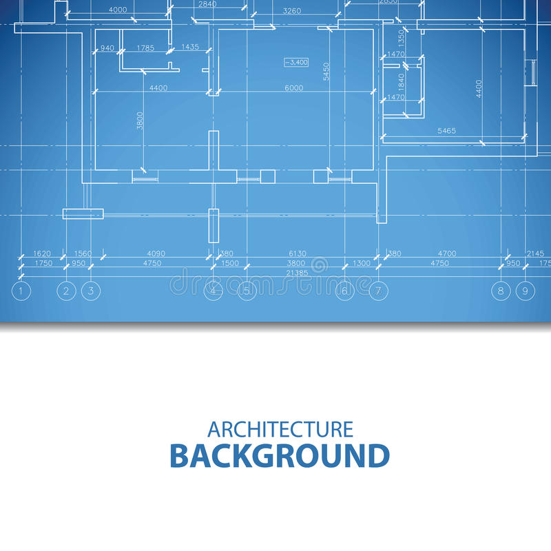 Μπλε σχέδιο αρχιτεκτονικής διανυσματική απεικόνιση