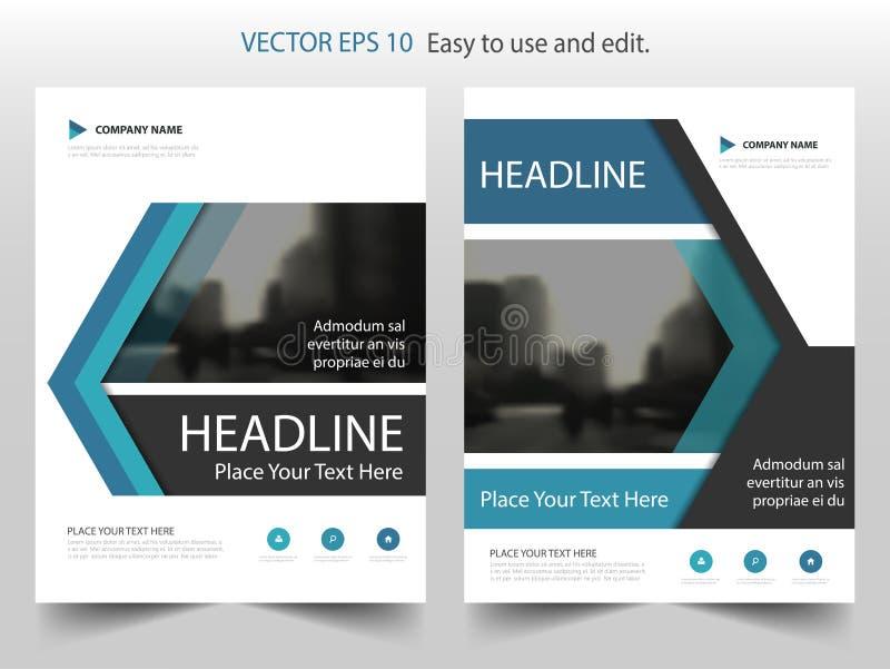Μπλε σχέδιο προτύπων ιπτάμενων φυλλάδιων φυλλάδιων ετήσια εκθέσεων ετικετών διανυσματικό, σχέδιο σχεδιαγράμματος κάλυψης βιβλίων, ελεύθερη απεικόνιση δικαιώματος