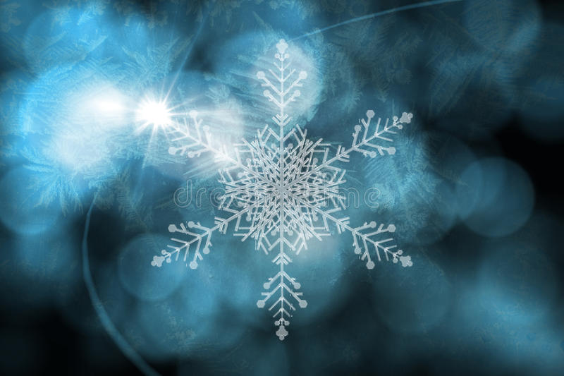 Μπλε σχέδιο σχεδίων νιφάδων χιονιού απεικόνιση αποθεμάτων