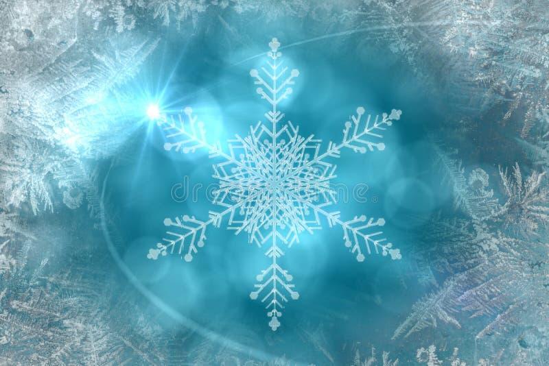 Μπλε σχέδιο σχεδίων νιφάδων χιονιού ελεύθερη απεικόνιση δικαιώματος