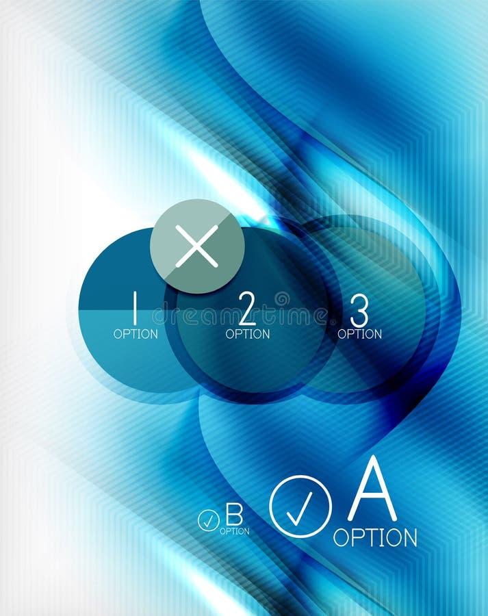 Μπλε σχεδιασμένη κύμα επιχειρησιακή αφίσα aqua ελεύθερη απεικόνιση δικαιώματος