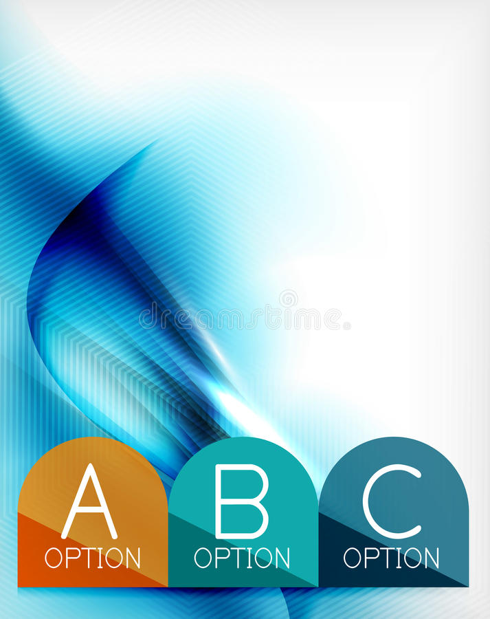 Μπλε σχεδιασμένη κύμα επιχειρησιακή αφίσα aqua απεικόνιση αποθεμάτων