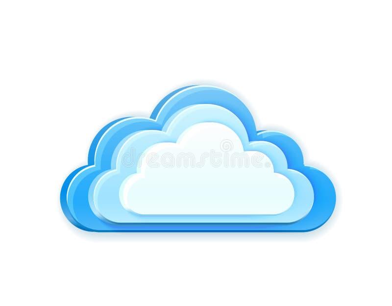μπλε σύννεφο διανυσματική απεικόνιση