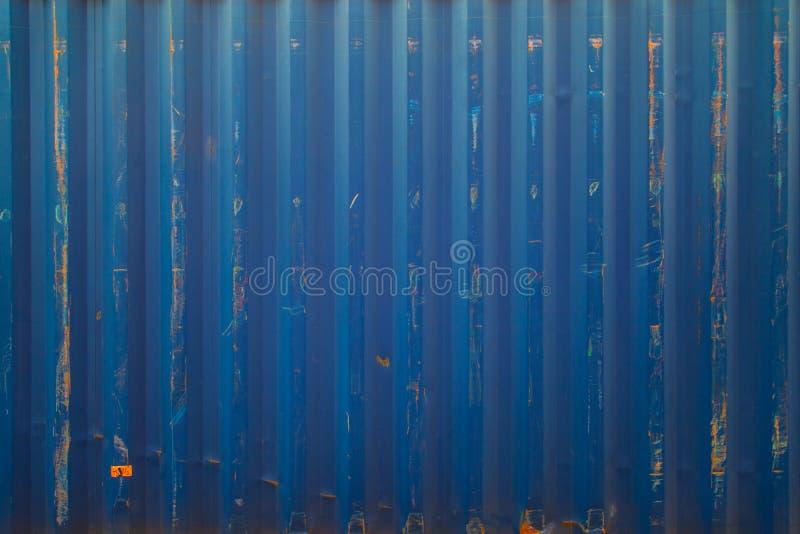 Μπλε σύσταση εμπορευματοκιβωτίων φορτηγών πλοίων στοκ εικόνες με δικαίωμα ελεύθερης χρήσης