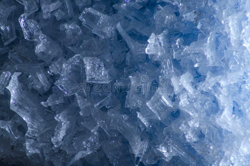 Μπλε σύσταση πάγου στοκ φωτογραφίες με δικαίωμα ελεύθερης χρήσης