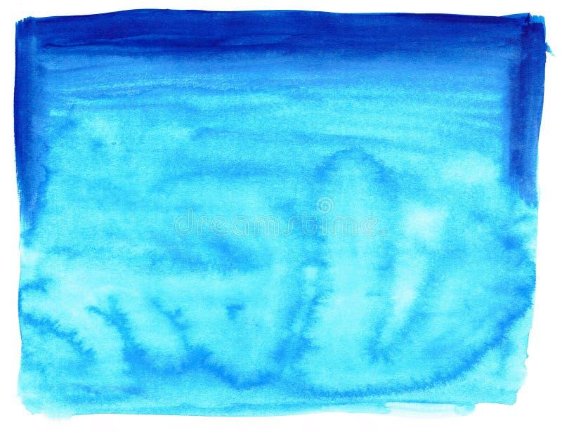 Μπλε σύσταση υδατοχρώματος ελεύθερη απεικόνιση δικαιώματος
