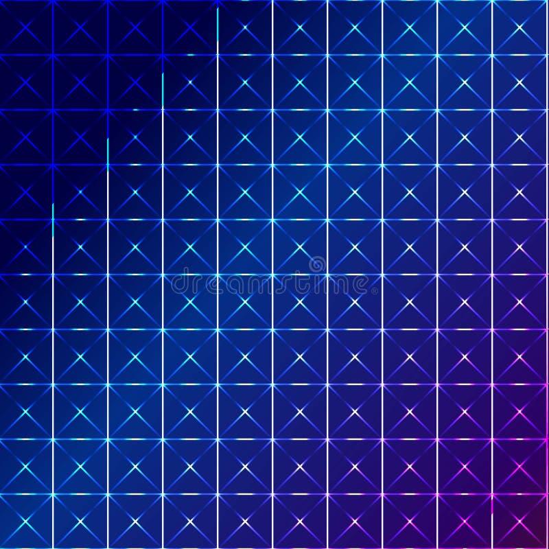 Μπλε τετραγωνικό αφηρημένο υπόβαθρο απεικόνιση αποθεμάτων