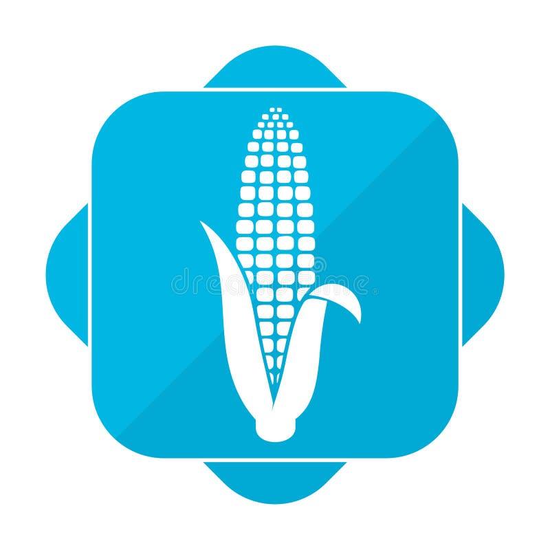 Μπλε τετραγωνικό καλαμπόκι εικονιδίων ελεύθερη απεικόνιση δικαιώματος