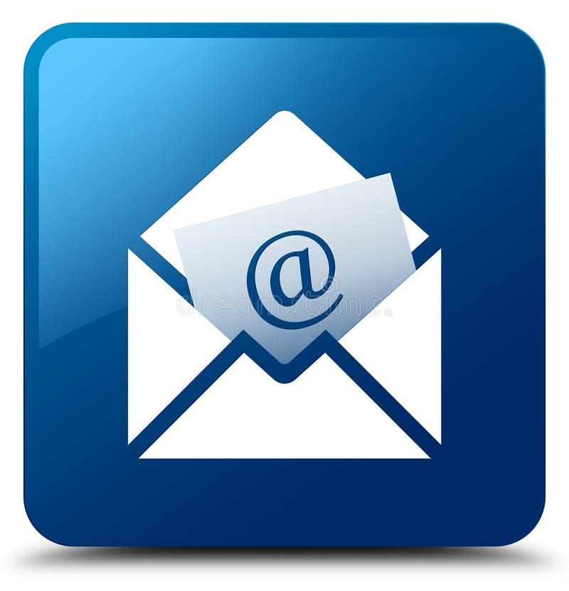 Μπλε τετραγωνικό κουμπί εικονιδίων ενημερωτικών δελτίων ηλεκτρονικό ταχυδρομείο ελεύθερη απεικόνιση δικαιώματος