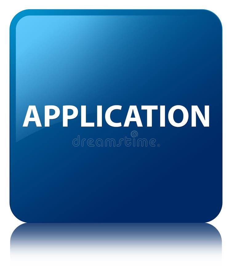 Μπλε τετραγωνικό κουμπί εφαρμογής απεικόνιση αποθεμάτων