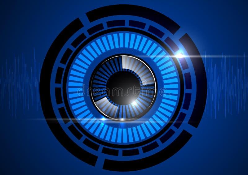Μπλε τεχνολογία βολβών του ματιού απεικόνιση αποθεμάτων