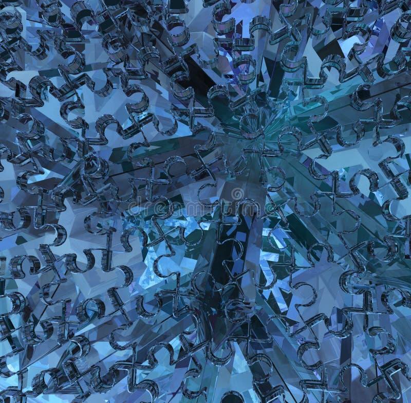 Μπλε τορνευτικών πριονιών κρυστάλλου διανυσματική απεικόνιση