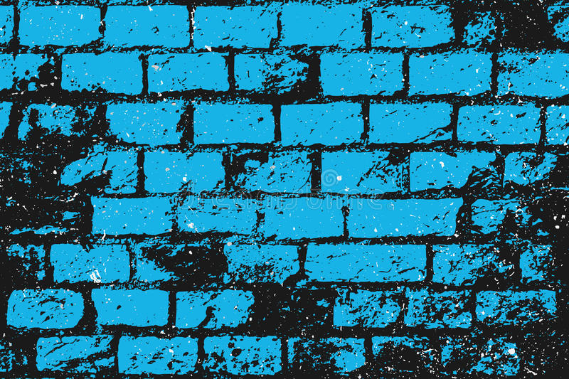 μπλε τούβλα ελεύθερη απεικόνιση δικαιώματος