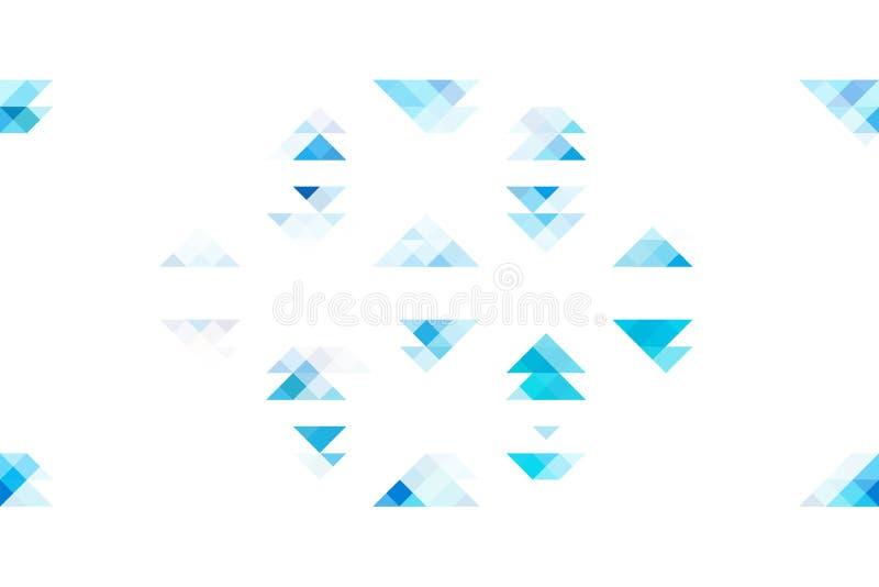 Μπλε τρίγωνα τόνου στο απομονωμένο άσπρο υπόβαθρο ελεύθερη απεικόνιση δικαιώματος