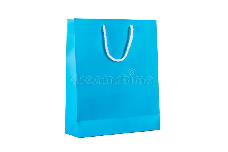 Μπλε τσάντα αγορών στοκ φωτογραφίες με δικαίωμα ελεύθερης χρήσης