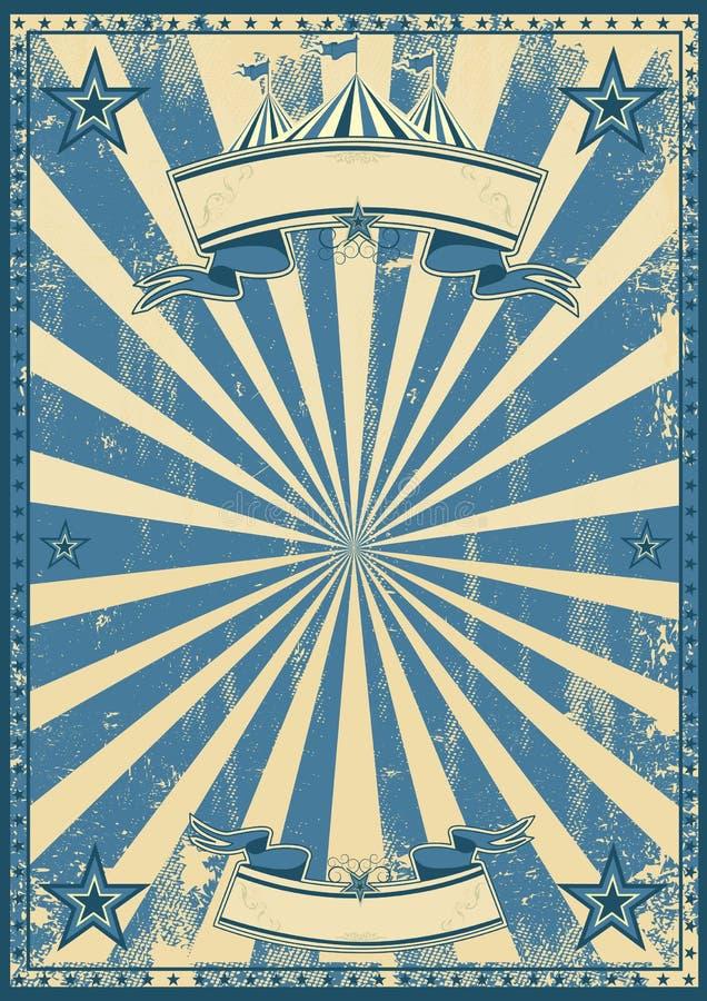 Μπλε τσίρκο αναδρομικό στοκ εικόνα με δικαίωμα ελεύθερης χρήσης