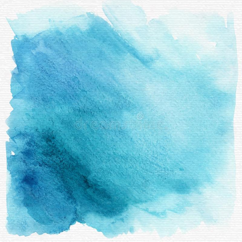 Μπλε υπόβαθρο ή σύσταση watercolor grunge διάνυσμα διανυσματική απεικόνιση