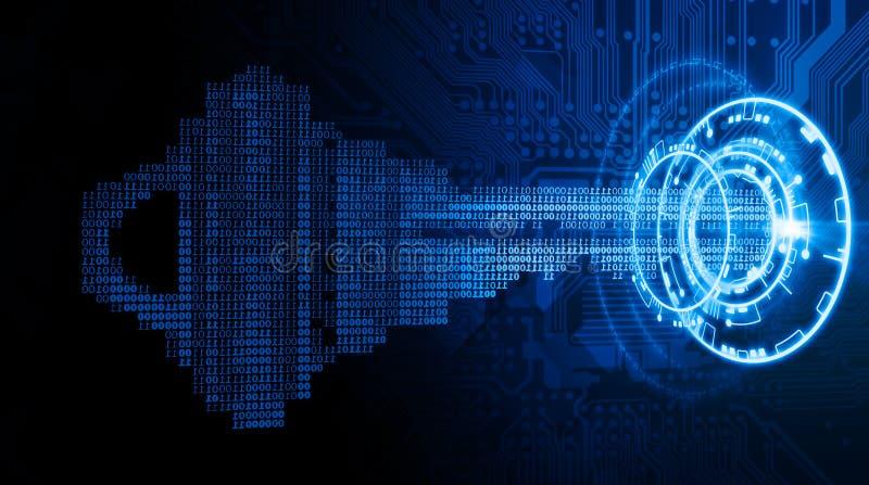 Μπλε υπόβαθρο υψηλής τεχνολογίας ένα απεικόνιση αποθεμάτων