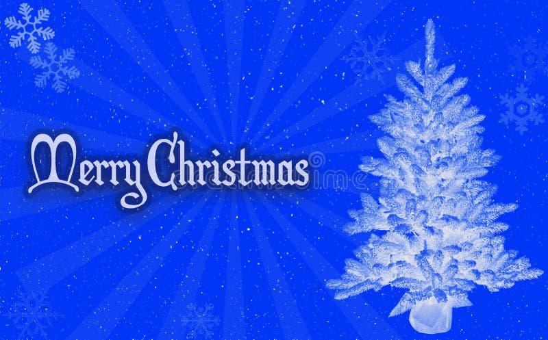 Μπλε υπόβαθρο Χαρούμενα Χριστούγεννας στοκ εικόνες