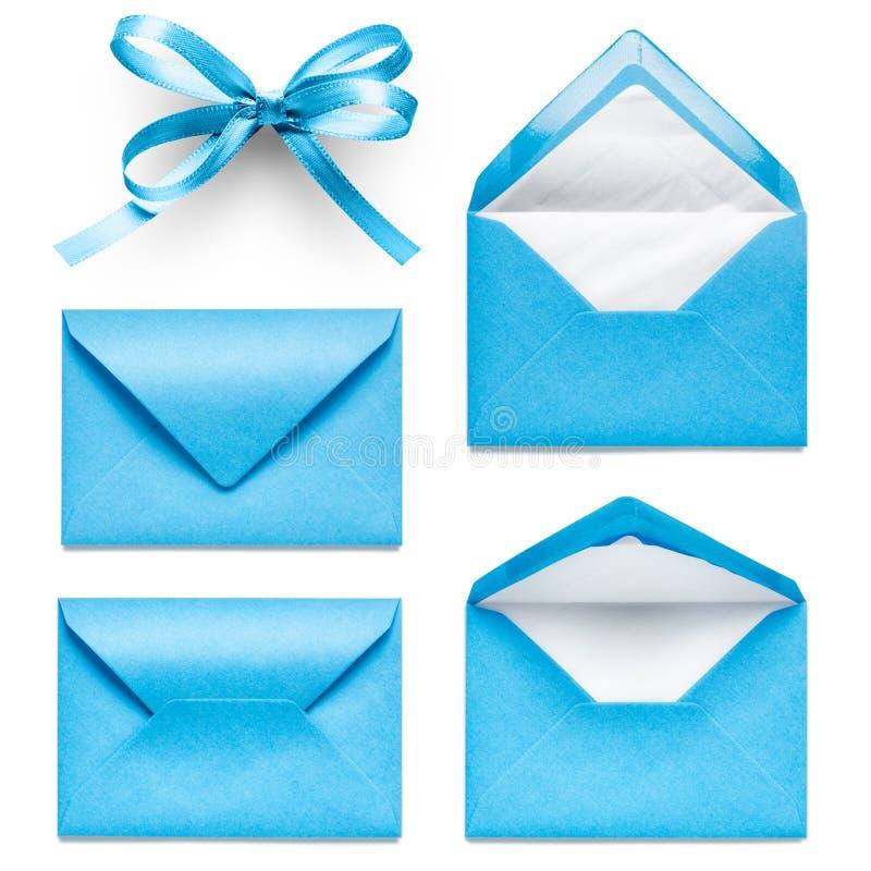Μπλε φάκελοι στοκ εικόνα
