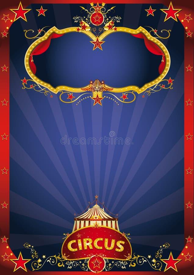 Μπλε φανταστικό γεγονός τσίρκων στοκ εικόνες