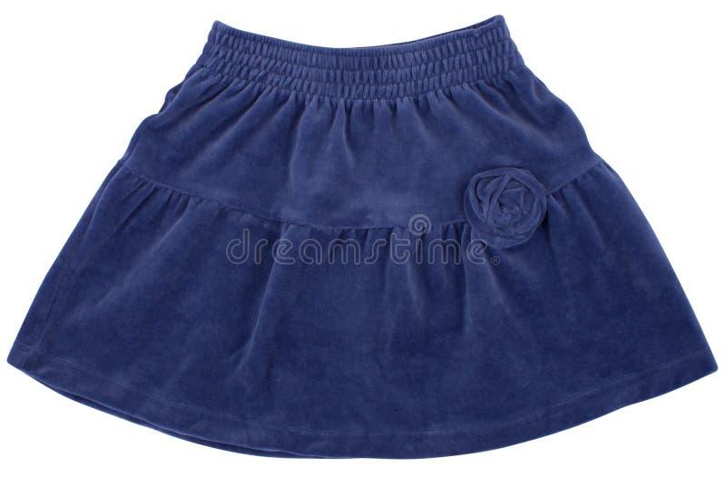 Μπλε φούστα παιδιών ή της γυναίκας Απομονωμένος στο λευκό στοκ φωτογραφία με δικαίωμα ελεύθερης χρήσης
