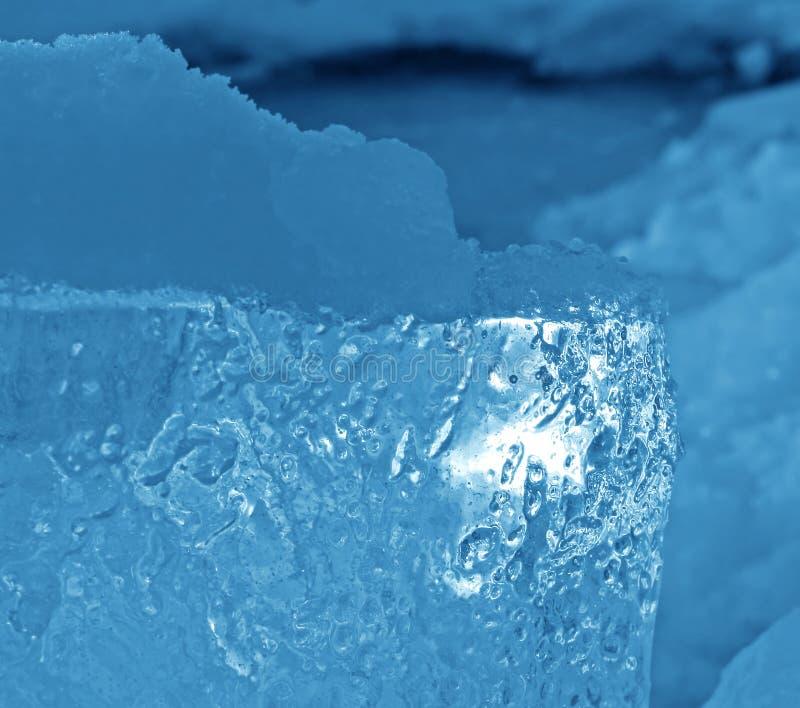 μπλε φυσικό χιόνι πάγου στοκ φωτογραφία