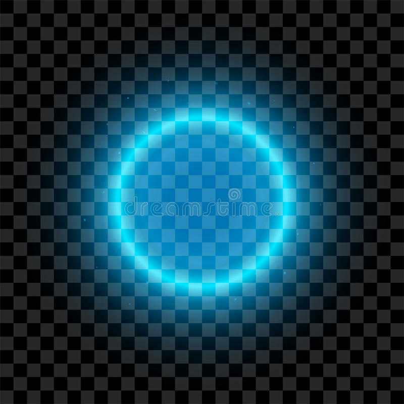 Μπλε φωτισμένος διανυσματικός κύκλος διανυσματική απεικόνιση