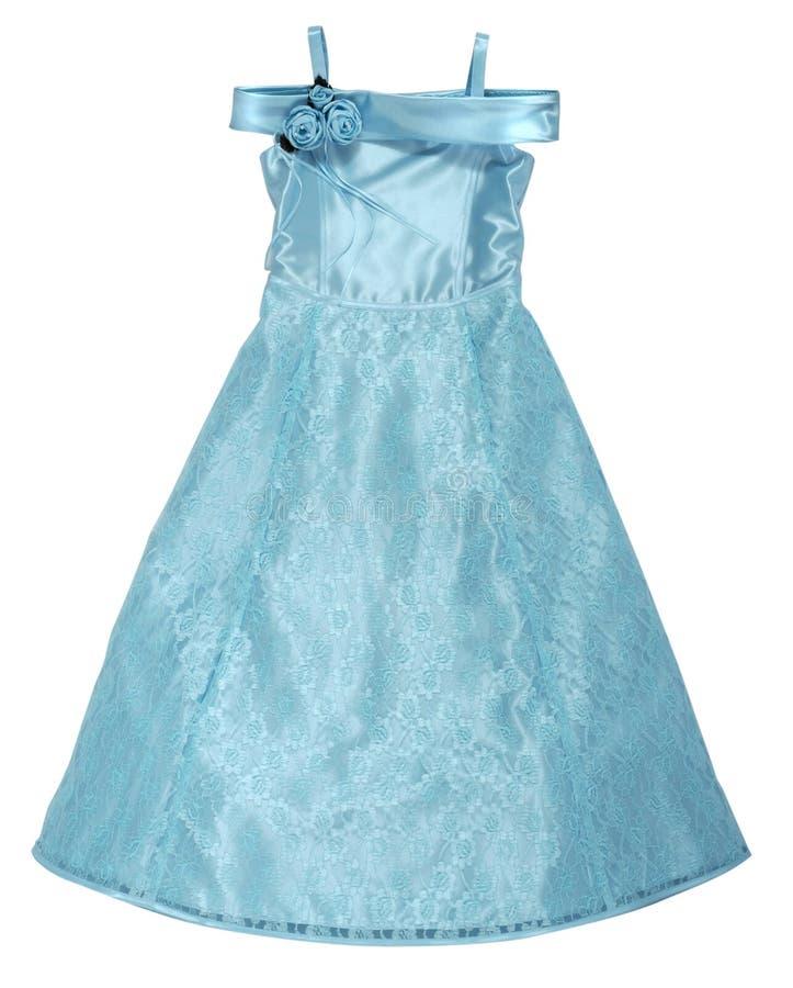 Μπλε φόρεμα μεταξιού στοκ εικόνες με δικαίωμα ελεύθερης χρήσης