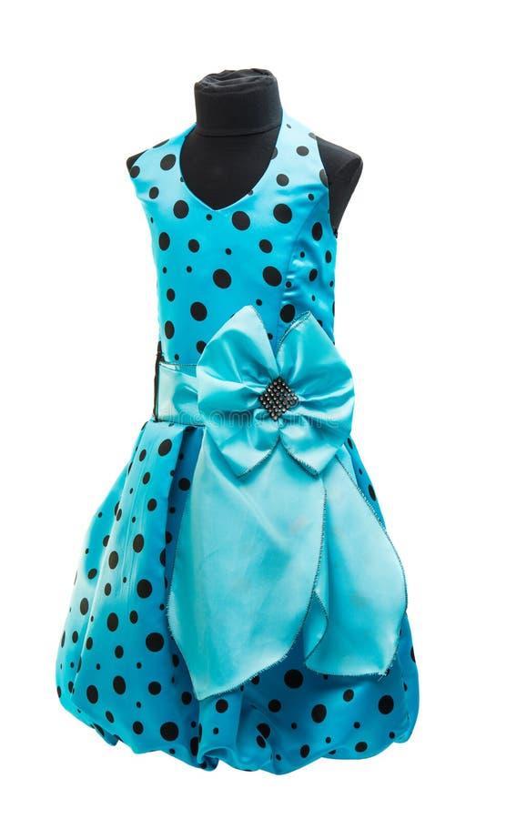 μπλε φόρεμα μωρών στοκ εικόνα με δικαίωμα ελεύθερης χρήσης