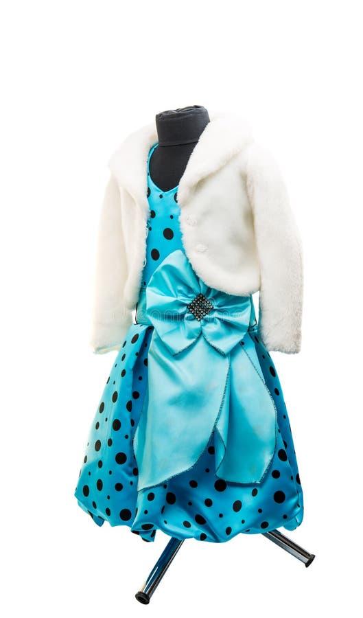 μπλε φόρεμα μωρών στοκ εικόνες με δικαίωμα ελεύθερης χρήσης