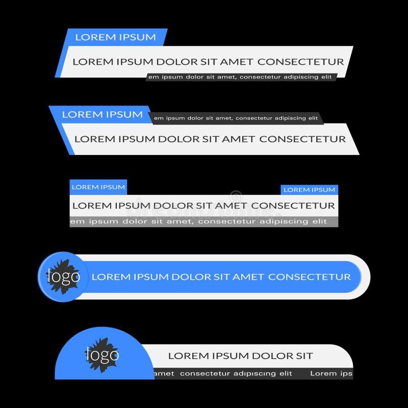 Μπλε χαμηλότερα τρίτα εμβλήματα απεικόνιση αποθεμάτων