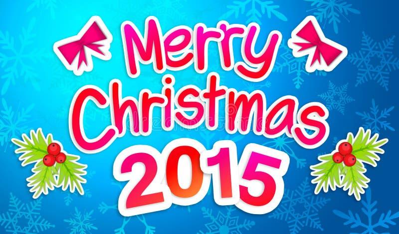 Μπλε Χαρούμενα Χριστούγεννα που χαιρετά την κάρτα εγγράφου τέχνης απεικόνιση αποθεμάτων