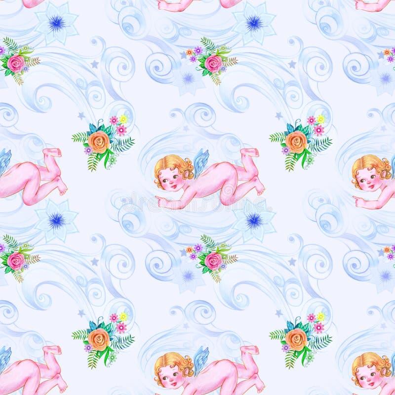 Μπλε χειμερινό πρότυπο διανυσματική απεικόνιση