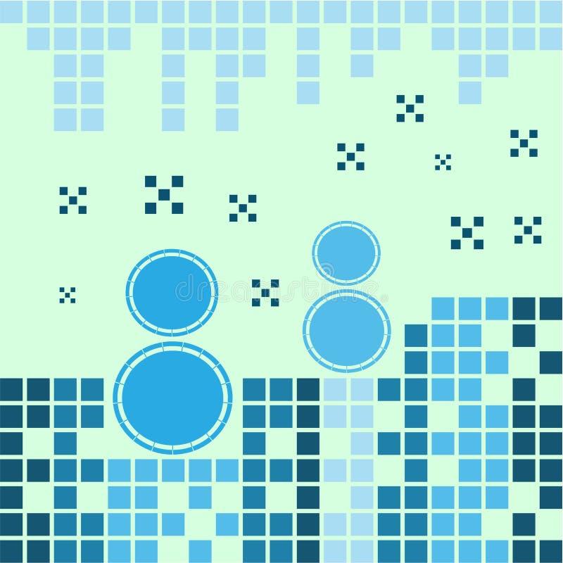 Μπλε χιονάνθρωποι απεικόνιση αποθεμάτων