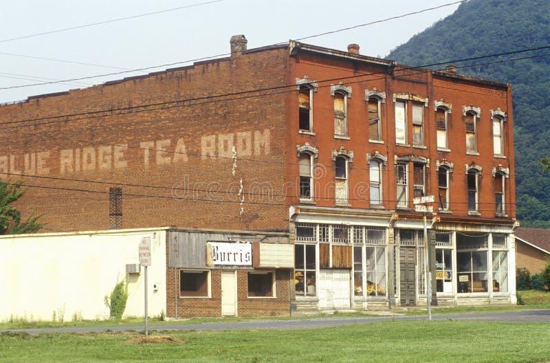 Μπλε δωμάτιο τσαγιού κορυφογραμμών σε Appalachia, VA στοκ εικόνα με δικαίωμα ελεύθερης χρήσης
