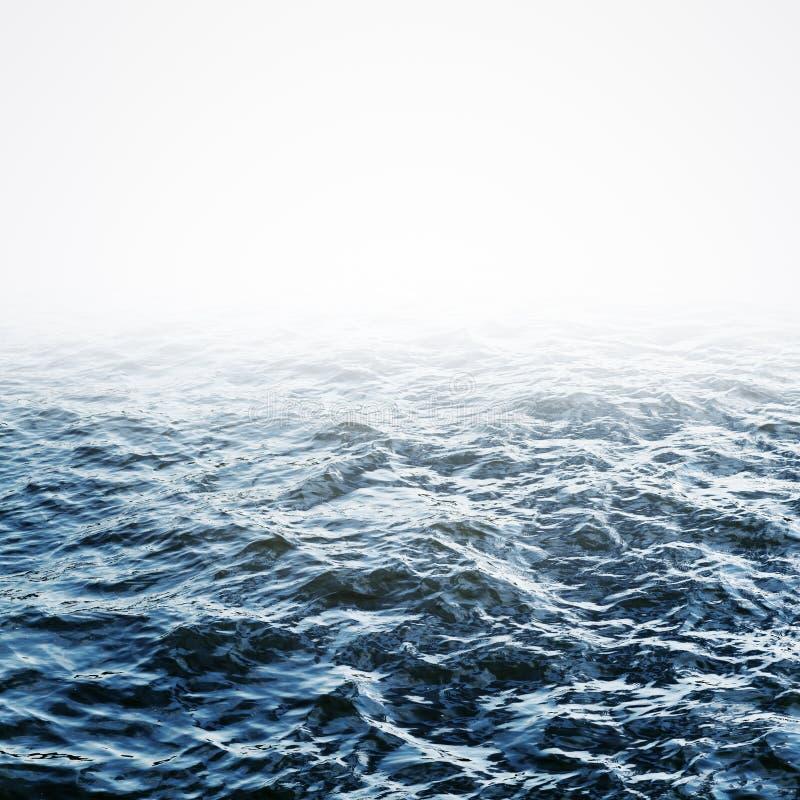 μπλε ύδωρ κυματώσεων ανα&sig στοκ εικόνα